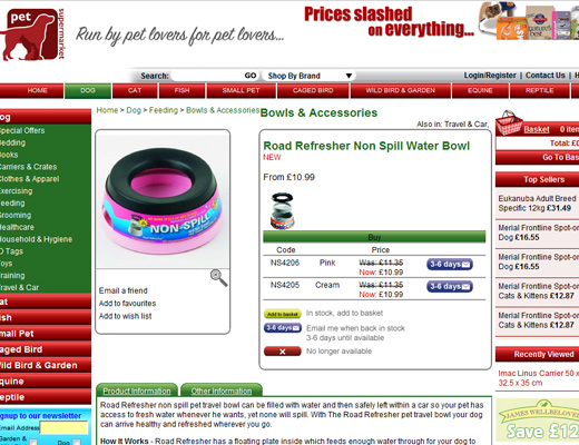 roadrefresher1 Road Refresher No Spill Water Bowl